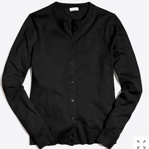 J. Crew Black Cotton Cardigan